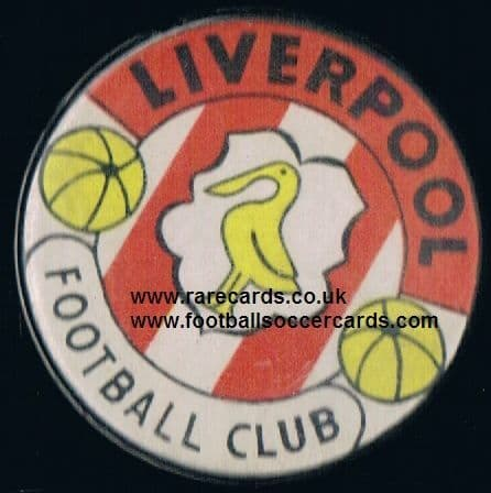 1972 very rare Liverpool large button badge, cellulose front & back, unusual pin