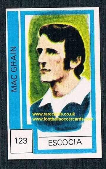 1974 Scotland World Cup Danny McGrain - from Chile! - Celtic