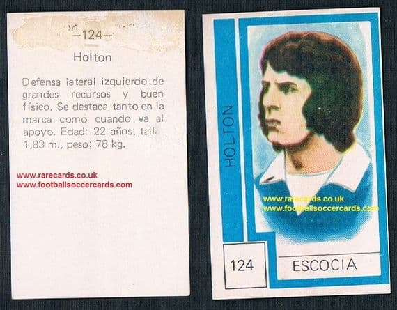 1974 Scotland World Cup Jim Holton - from Chile - Shrewsbury Man U Miami Coventry