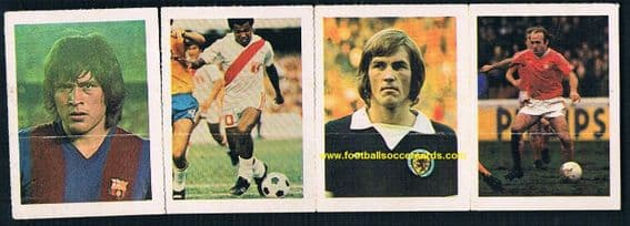 1978 French strip of 4 Kenny Dalglish Scotland Archie Gemmill Nottingham Forest RARE!