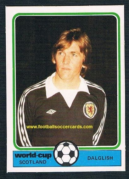 1978 Kenny Dalglish Monty Gum World Cup Argentina card of the Liverpool & Scotland legend