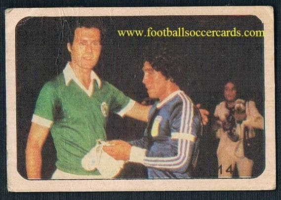 1979 Beckenbauer & Maradona! New York Cosmos v Argentina 1978 match - similar on EB for over 2,000!