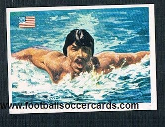 1979 Quelcom mark Spitz gum card from Spain clean back