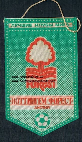 1980 Nottingham Forest gum cards pennant made in Russia