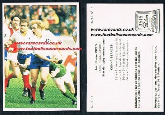 1980s Poulain rugby Jean-Pierre Rives