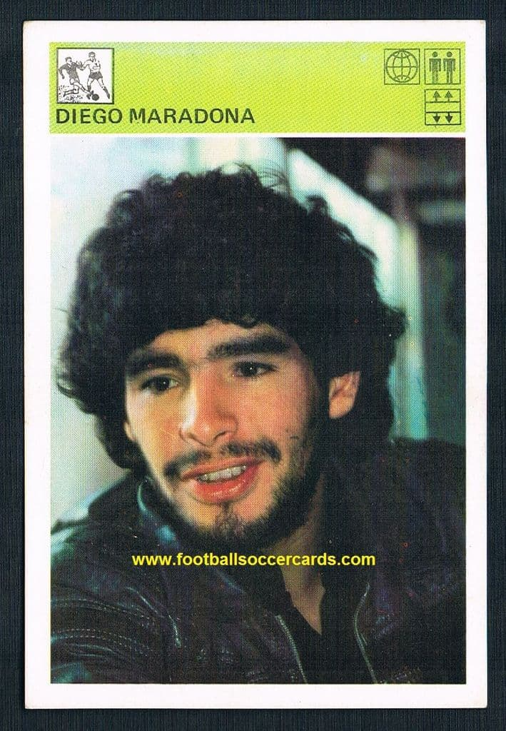 1981 Diego Maradona card from Yugoslavia dated 1981 in two places