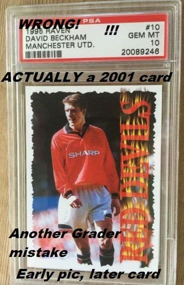 Not 1995! Actually 2000-2001. Raven Beckham Fergie's Fledglings card made in Spain or so it seems!