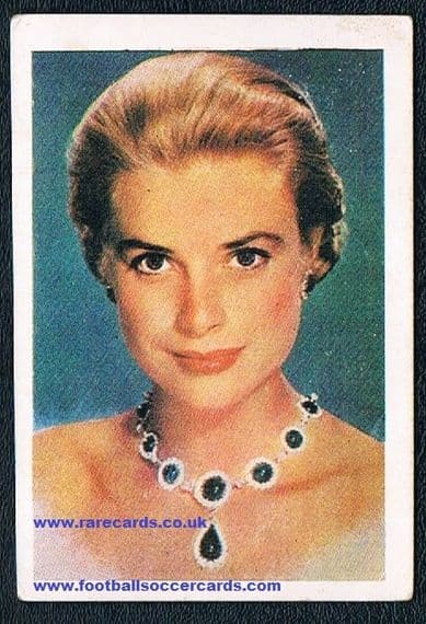 Princess Grace Kelly Spanish trade card