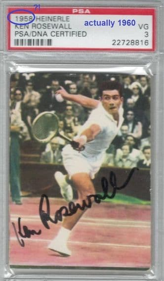 wrongly graded as 1958. This tennis  card is from 1960