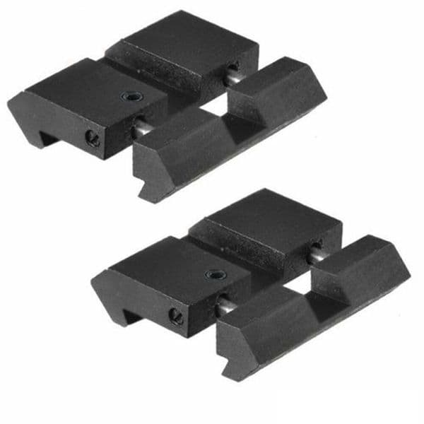 11mm Dovetail to 20mm Picatinny Weaver Rail Adaptor - Easy Fit