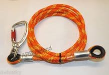 ARBORIST 3m WIRE CORE FLIPLINE WITH 1 EYE & SWIVEL SNAP HOOK KARABINER WIRECORE