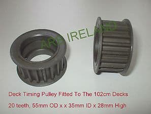 Castel Garden / Honda / Mountfield Toothed Timing Belt Pulley TC102 TCR102 TCP102, P/N 25601559/0