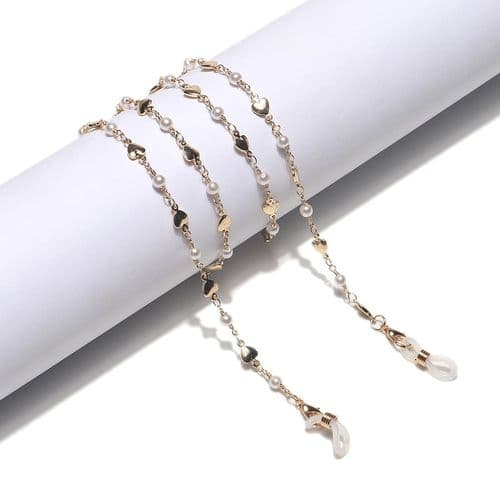 Pearl and Heart Glasses Chain