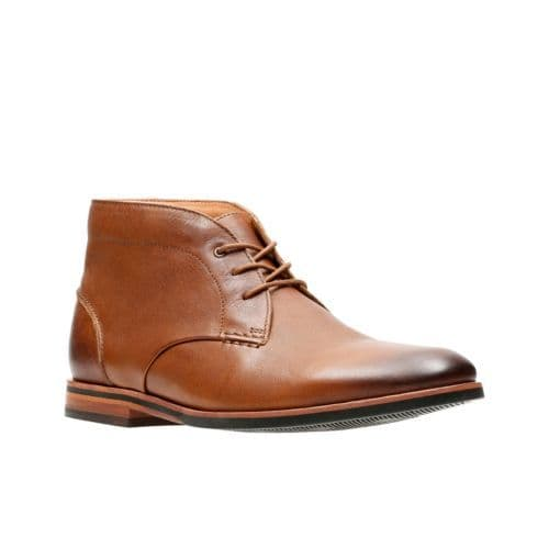 Clarks 'Broyd Mid' Men's  Ankle Boots - Tan Leather G