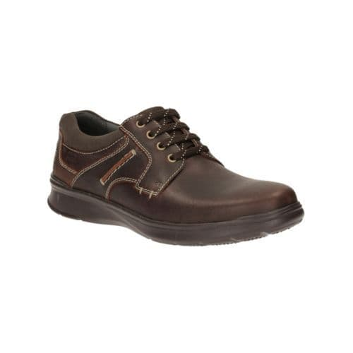 Clarks 'Cotrell Plain' Men's Lace-up  Shoes - Brown Oily Leather G