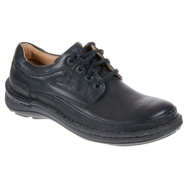 Clarks 'Nature Three' Men's Comfort  Shoes - Black Leather G