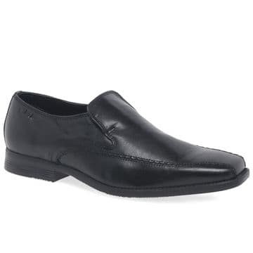 Clarks 'Acre Out' Men's Slip-on Formal/Smart Shoe - Black Leather G