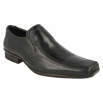 Clarks 'Affix Step' Men's Slip-on Smart Shoe - Black Leather G