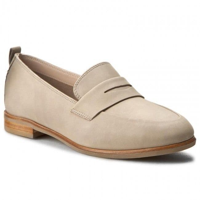 Clarks 'Alania Belle' Women's Loafer Shoes - Sand Nubuck D