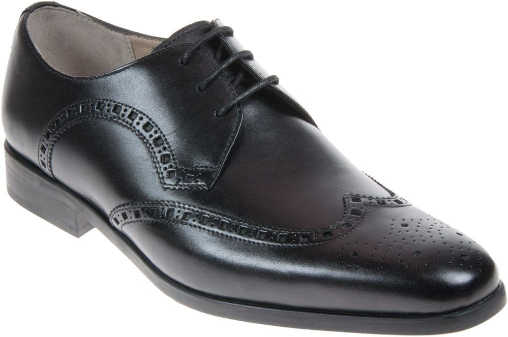 Clarks 'Amieson Limit' Men's Brogue Shoes - Black Leather G
