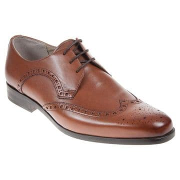 Clarks 'Amieson Limit' Men's Brogue Shoes - Tan Leather G