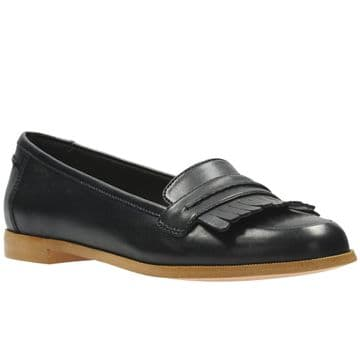 Clarks 'Andora Crush' Women's Smart/Casual Slip On Shoes - Black Leather D