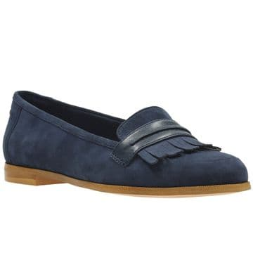 Clarks 'Andora Crush' Women's Smart/Casual Slip On Shoes - Navy Suede D