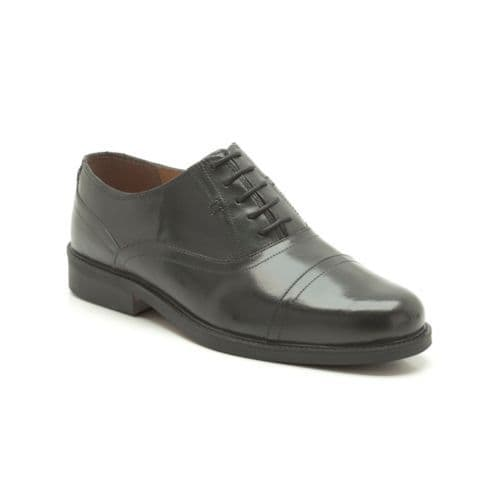 Clarks 'Astute Top' Men's Wide Fitting Smart Shoes - Black Leather H