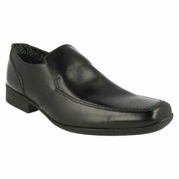 Clarks 'Aze Night' Men's Smart/Formal Slip-on Shoe - Black Leather G