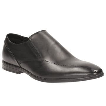 Clarks 'Bampton Free' Men's Slip-on Smart Shoe - Black Leather G