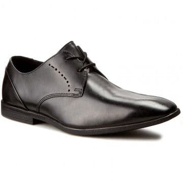 Clarks 'Bampton Lace' Men's Smart Shoes - Black Leather G