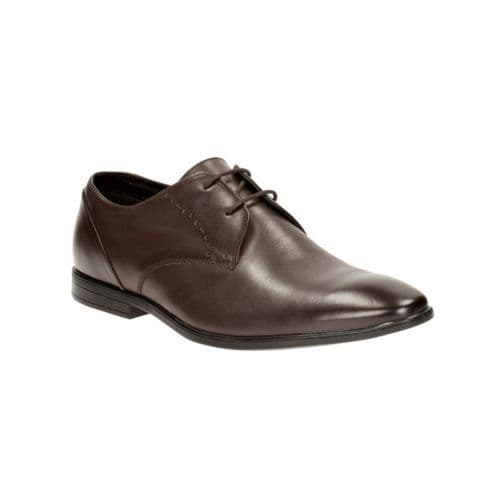 Clarks 'Bampton Lace' Men's Smart Shoes - Walnut Leather G