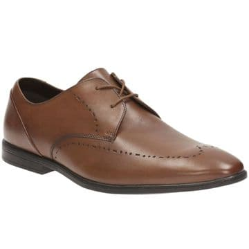 Clarks 'Bampton Limit' Men's Smart Shoe - Tan Leather G