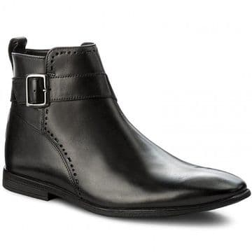 Clarks 'Bampton Mid' Men's Chelsea Style Boots - Black Leather G