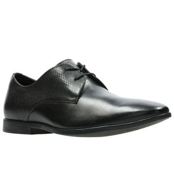Clarks 'Bampton Walk' Men's Smart Shoe - Black Leather G