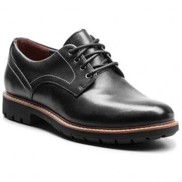 Clarks 'Batcombe Hall' Men's Derby Shoes - Black Leather G