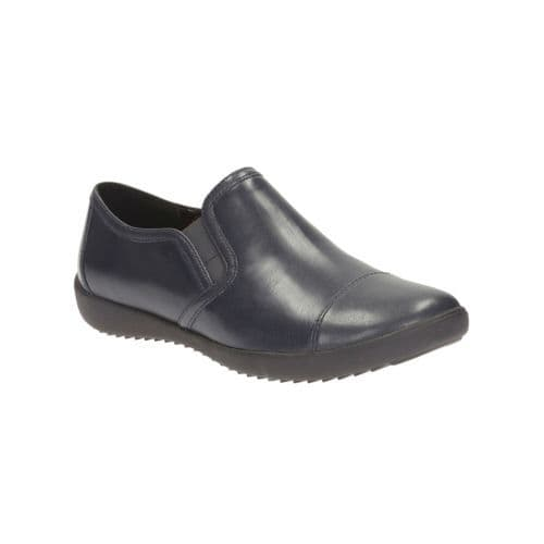 Clarks 'Belgrave Venus' Women's Trouser Shoes - Navy Leather D