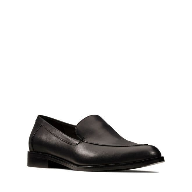 Clarks 'Bizzy Dawn' Women's Loafer Shoes - Black Leather D