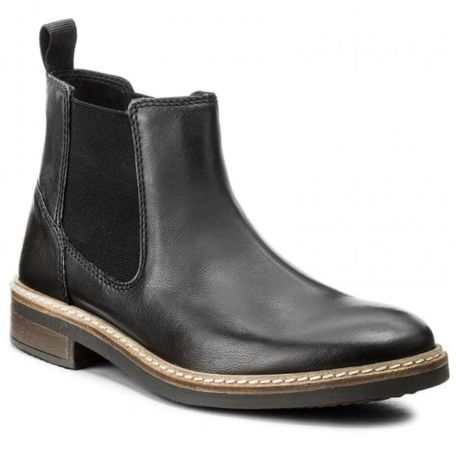 Clarks 'Blackford Top' Men's Chelsea Boots - Black Leather G