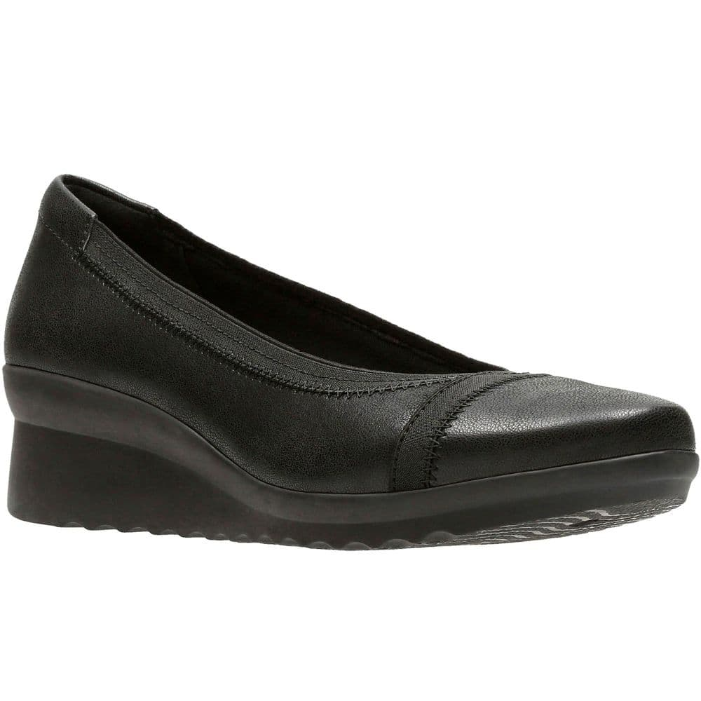 Clarks 'Caddell Dash' Slip-on Comfort Shoes - Black Synthetic D