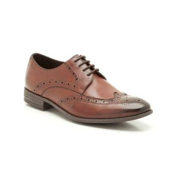 Clarks 'Chart Limit' Men's Brogue Formal Shoes - Brown Leather G