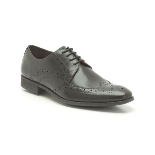 Clarks 'Chart Limit' Mens Brogue Formal Shoe - Black Leather G