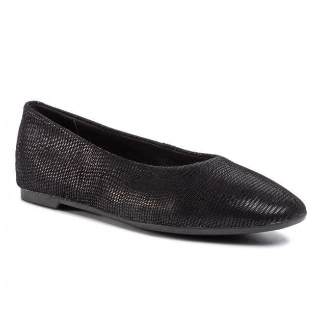 Clarks 'Chia Violet' Women's Flat Pump Shoe - Black Interest D