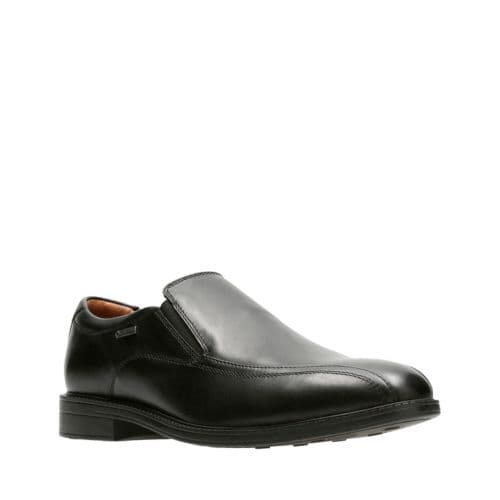 Clarks 'Chilver Go GTX' Men's Slip-on Waterproof Formal Shoes - Black Leather G