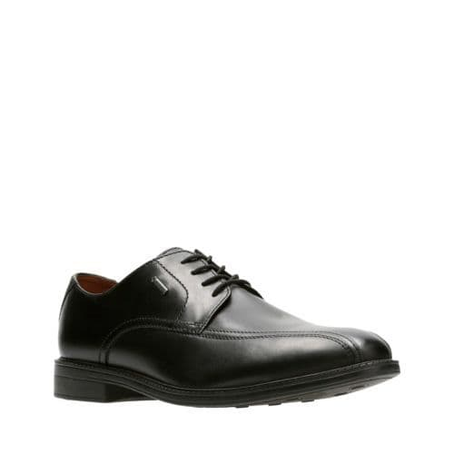 Clarks 'Chilver Up GTX' Men's Waterproof Formal Shoe - Black Leather G
