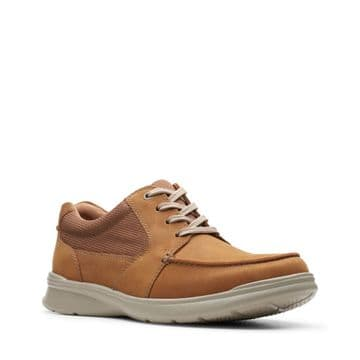 Clarks 'Cotrell Lane' Men's Lace-up Casual Shoes - Tan Combi Leather G