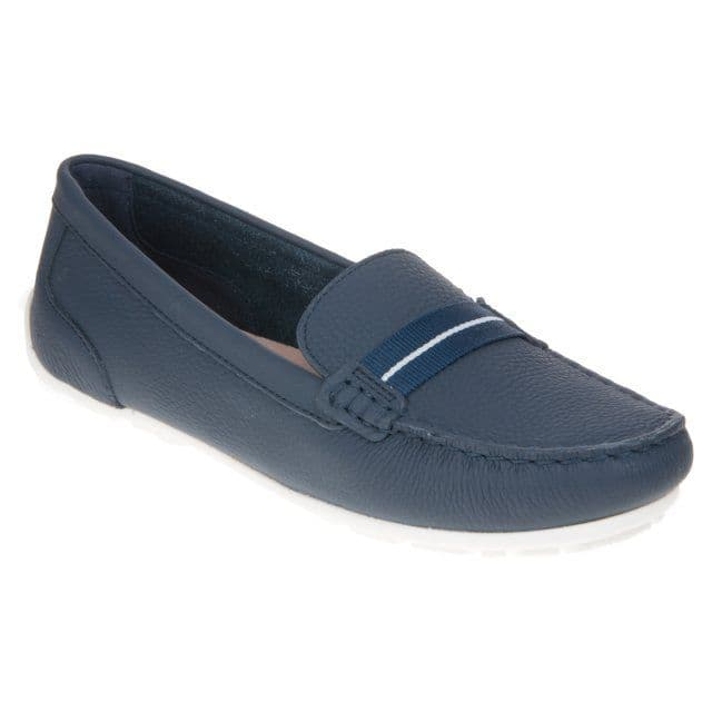 Clarks 'Dameo Vine' Women's Loafer Shoe - Navy Leather D
