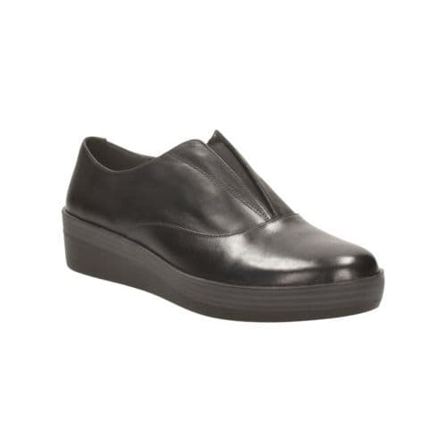 Clarks 'Demi Grace' Women's Flat Comfort Work Shoe - Black Leather D