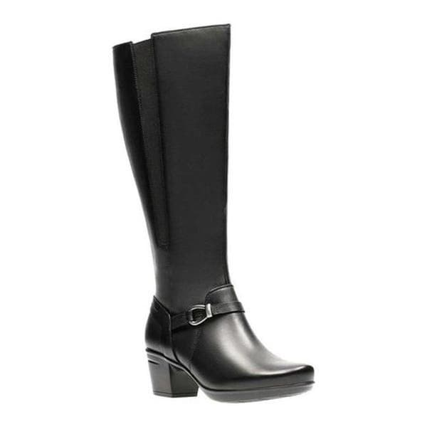 Clarks 'Emslie Sinai' Women's  Wide Fitting Knee High Boots - Black Leather E