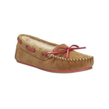 Clarks 'Eskimo Cloud' Women's Moccasin Style Slippers - Tan Suede